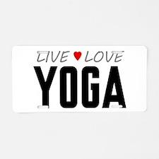 Live Love Yoga Aluminum License Plate