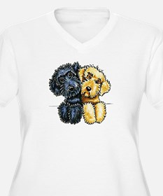 Labradoodles Lined Up Plus Size T-Shirt