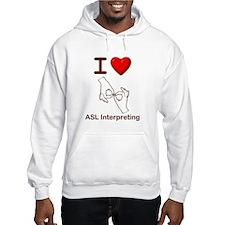 I Love ASL Interpreting 1 Hoodie