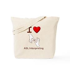 I Love ASL Interpreting 1 Tote Bag