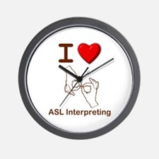 I Love ASL Interpreting 1 Wall Clock