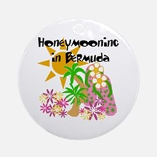 Honeymoon Bermuda Ornament (Round)