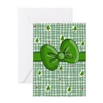 green christmas 2 Greeting Cards