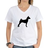 Basenji dog Womens V-Neck T-shirts
