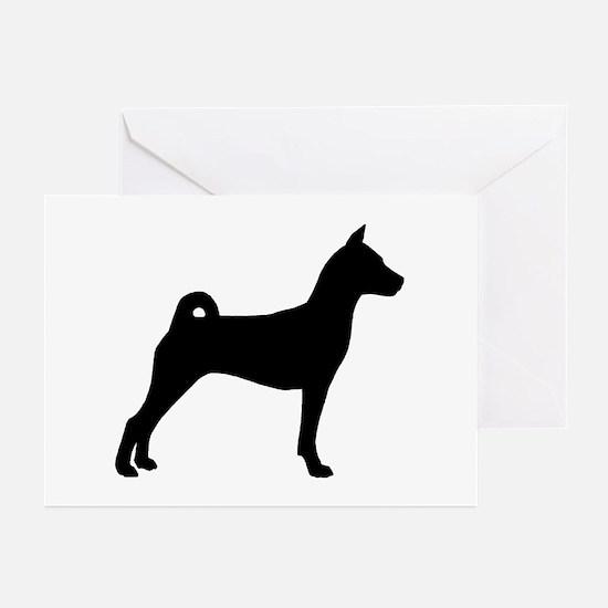 Basenji Dog Greeting Cards (Pk of 10)