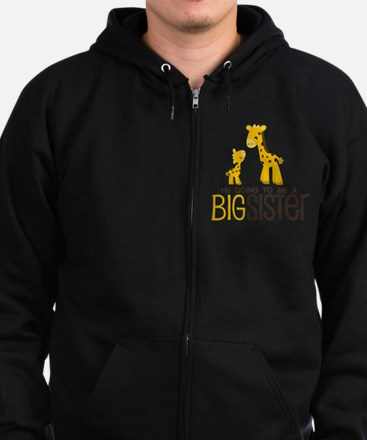 I'm going to be a big sister Zip Hoodie (dark)