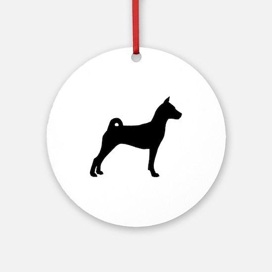 Basenji Dog Ornament (Round)