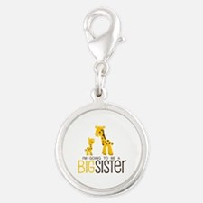 I'm going to be a big sister Silver Round Charm