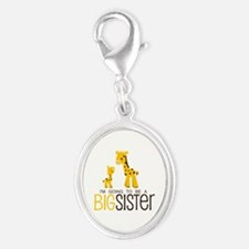 I'm going to be a big sister Silver Oval Charm