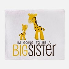 I'm going to be a big sister Throw Blanket