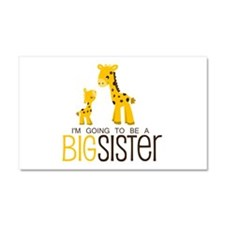 I'm going to be a big sister Car Magnet 20 x 12