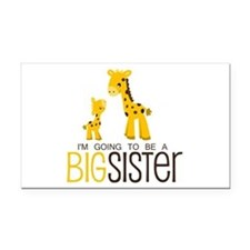 I'm going to be a big sister Rectangle Car Magnet