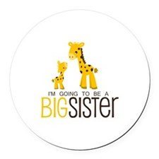 I'm going to be a big sister Round Car Magnet