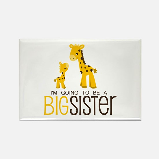 I'm going to be a big sister Rectangle Magnet