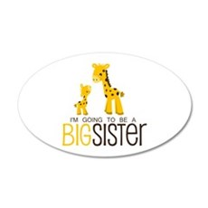 I'm going to be a big sister 20x12 Oval Wall Decal
