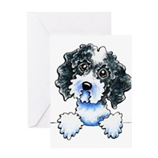 Black Parti Cockapoo Lined Greeting Cards
