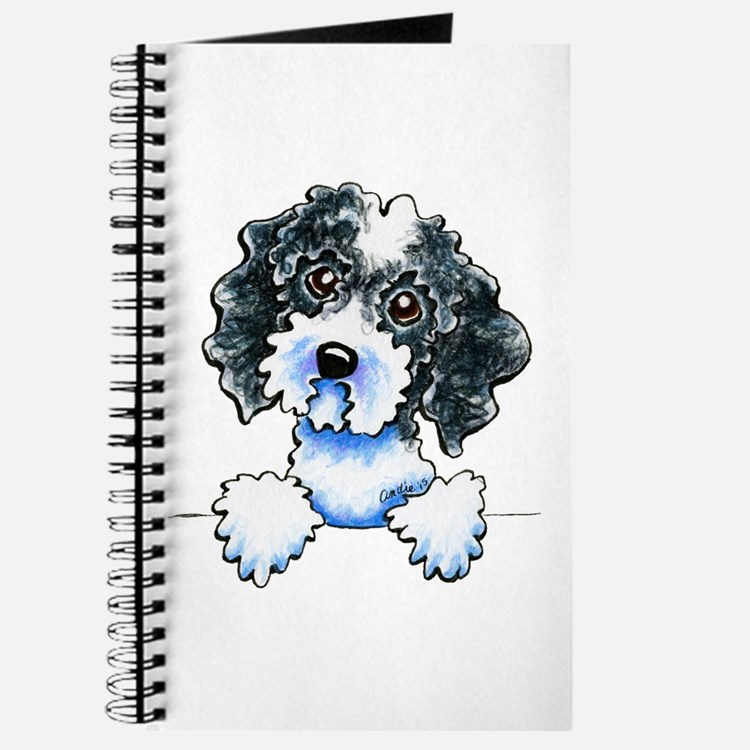 Black Parti Cockapoo Lined Journal