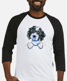 Black Parti Cockapoo Lined Baseball Jersey