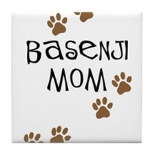 Basenji Mom Tile Coaster