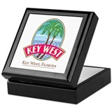 Key west Square Keepsake Boxes