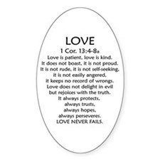 1Cor.13 Love Oval Decal