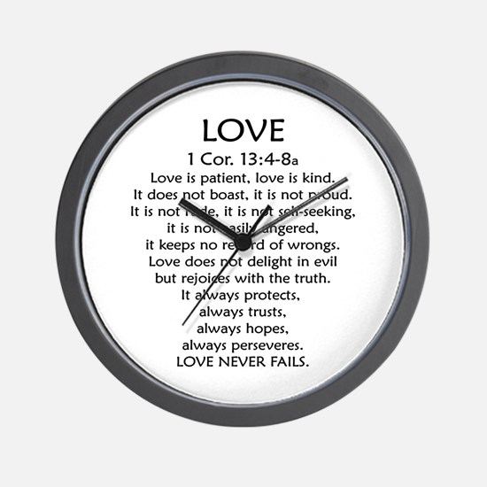 1Cor.13 Love Wall Clock