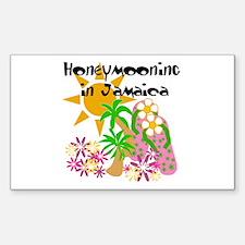Honeymoon Jamaica Rectangle Decal