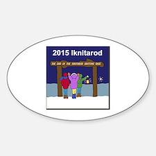 Iknitarod 2015 Sticker (Oval)