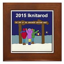 Iknitarod 2015 Framed Tile