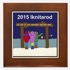 Iknitarod 2015 Framed Tile