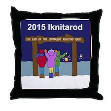 Iknitarod 2015 Throw Pillow