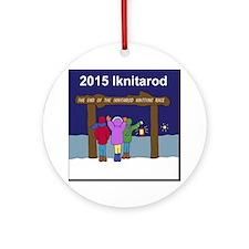 Iknitarod 2015 Round Ornament
