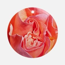 Pink Coral Colour Rose Ornament (Round)
