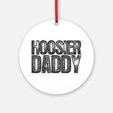 Hoosier Daddy Round Ornament