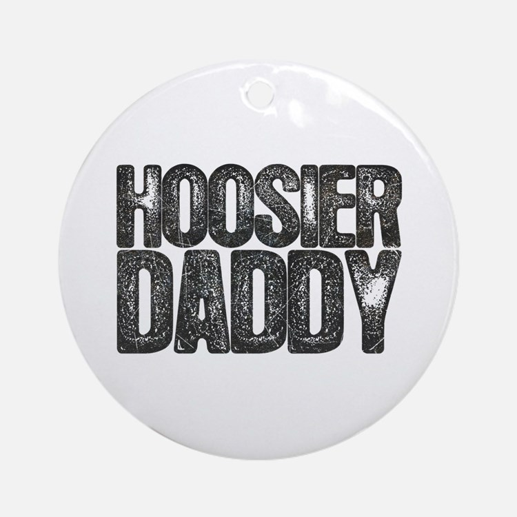 Hoosier Daddy Round Ornament