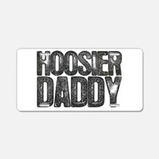 Hoosier Daddy Aluminum License Plate