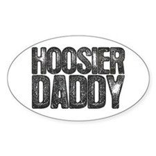 Hoosier Daddy Oval Decal