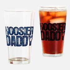 Blue Hoosier Daddy Drinking Glass