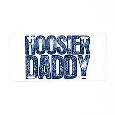 Blue Hoosier Daddy Aluminum License Plate
