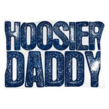 Blue Hoosier Daddy Pillow Case