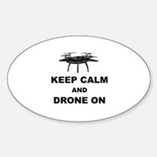Keep Calm and Drone On Decal