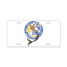 Mermaid Aluminum License Plate