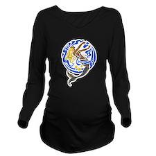 Mermaid Long Sleeve Maternity T-Shirt