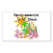 Honeymoon St. Croix Rectangle Decal