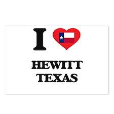 I love Hewitt Texas Postcards (Package of 8)