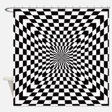 Optical Checks Shower Curtain