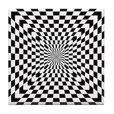 Optical Checks Tile Coaster