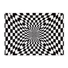 Optical Checks 5'x7'Area Rug