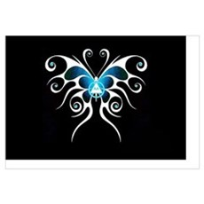 AA white butterfly Poster