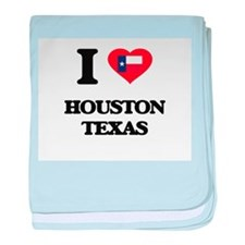 I love Houston Texas baby blanket